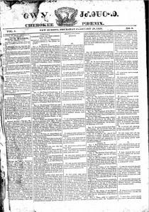 Cherokee Phoenix, February 28, 1828, page 1