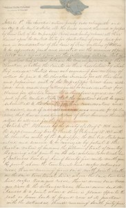 [Copy of New Echota] Treaty [between] the Cherokees [and the] United States, 1835, page 1