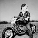 Teddy Edwards, son of the owner of the Indian Motorcycles franchise in Atlanta, is shown, 1948.
