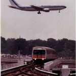 MARTA rail service to the airport, 1990.