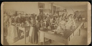 Chemistry Class-women's, Atlanta University Photographs, Robert W. Woodruff Library, presented in the Digital Library of Georgia.