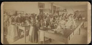 Chemistry Class-women's, Atlanta University Photographs, Robert W. Woodruff Library, presented in the Digital Library of Georgia.