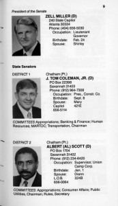 Members of the General Assembly of Georgia, Senate and House of Representatives, first session of the 1989-90 term (Picture Book), page 9.