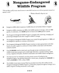Protected animals of Georgia (Georgia. Department of Natural Resources. Wildlife Resources Division. Nongame-Endangered Wildlife Program).
