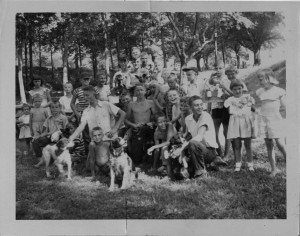 Photograph of children's dog show, Manchester, Georgia, 1953. Pine Mountain Regional Library, Manchester, Georgia.