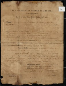 Confederate States Patent No. 60, Augusta-Richmond County Public Library System Collection