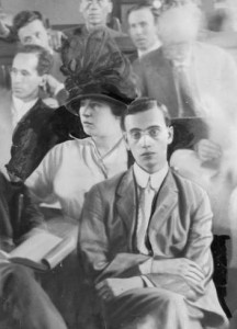 Leo Frank and his wife Lucille in the court room for his murder trial, Georgia, 1913. Local identification number: AJCP402-102e, Atlanta Journal-Constitution Photographic Archives. Special Collections and Archives, Georgia State University Library.