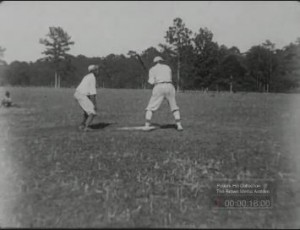 Clip from a home movie of a baseball game between African American employees of the Pebble Hill and Chinquapin Plantations, Georgia, 1919? Pebble Hill Plantation Collection, Walter J. Brown Media Archives and Peabody Awards Collection, University of Georgia Libraries, Athens, Georgia