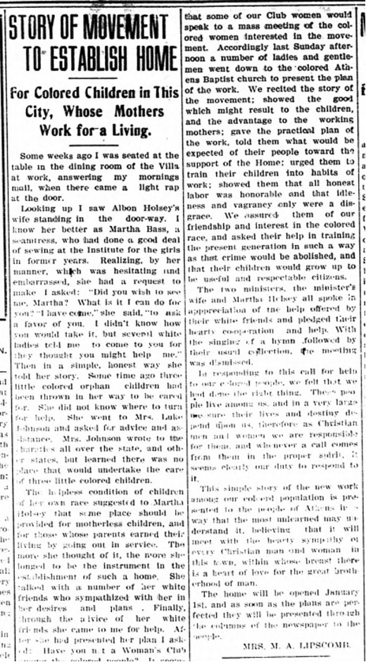 Page from the Athens Banner