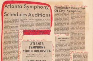 Atlanta Symphony Orchestra scrapbook 23, 1975-1976, page 10
