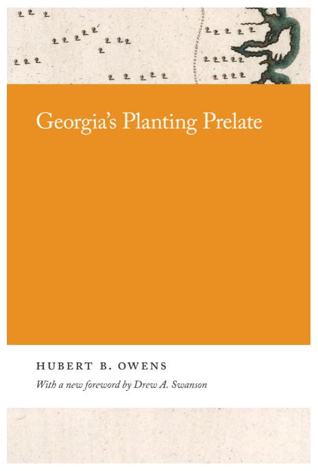 Cover of Hubert B. Owens' book Georgia's Planting Prelate